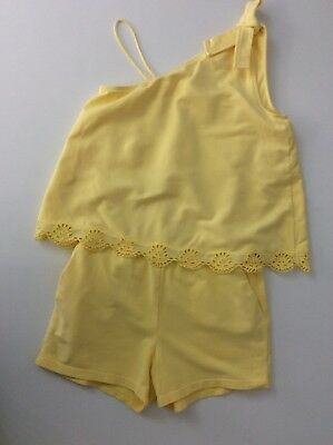 Chloe Yellow Jumpsuit Playsuit Age 8 Years Vgc