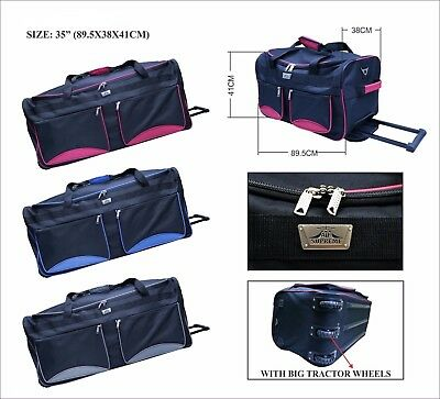 XXL Extra Large Wheeled Travel Trolley Luggage Sports Suitcase Holdall Bag Case