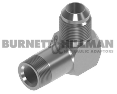 """NPTF Male x JIC male Extended 90° Compact Elbow 1/4"""" x 9/16"""" (A= 3.75"""")"""