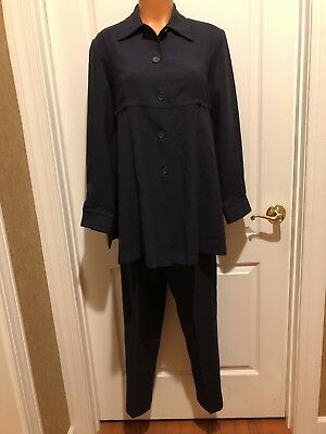 Mothers Work Maternity 3pc Navy Blue Blazer Skirt Pant Suit Size S EUC