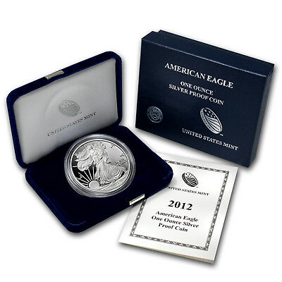 2012-W 1 oz Proof Silver American Eagle Coin - with Box and Certificate