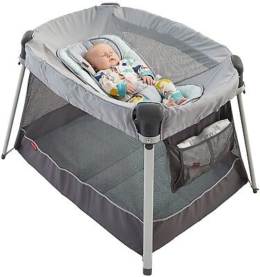 Ultra-Lite Day and Night Play Yard Sweet Surroundings Portable Playpen Safe Crib