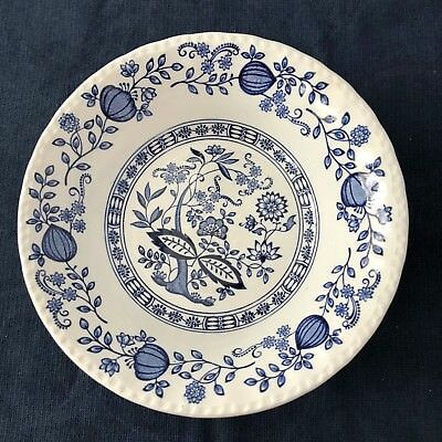 Wedgwood Blue Heritage Coupe Cereal  Bowl Blue Onion Pattern Vintage England