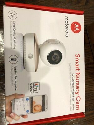 Motorola Smart Nursery Cam  Portable Wi-Fi Video Baby Camera MBP87CNCT BRAND NEW