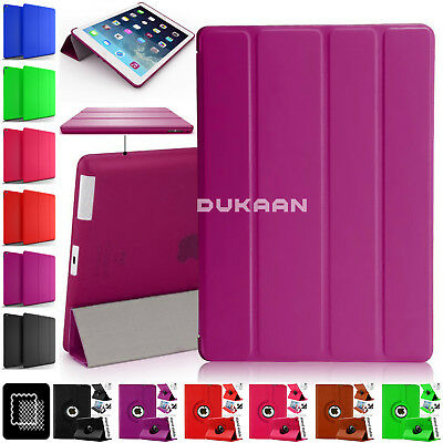 Magnetic Leather Stand Case & 360 Rotate Cover Fits Apple iPad 2 3 4 5 6 & Mini