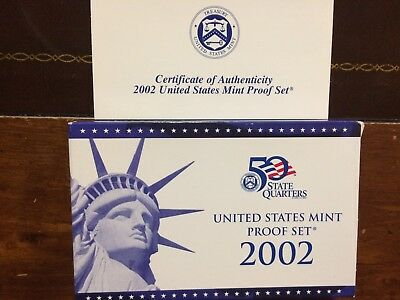 2002 S  U.S. MINT PROOF COIN SET - 10 Coin Set -* Free Shipping !!! *