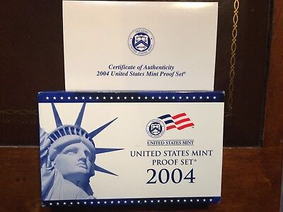 2004 S US Mint Proof 11 Coin Set with gov't packaging  & COA