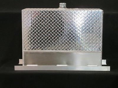 Upright Hydraulic Oil Tank Reservoir - 50 Gallons - Aluminum - With Mounting Kit