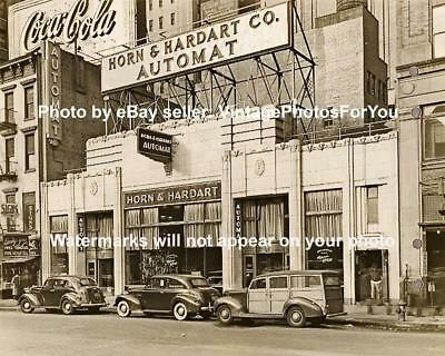 Old Antique Vintage New York City Diner Cars Coca Cola Sign Art Deco Photo