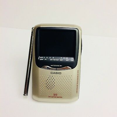"Casio EV-570 Handheld Color TV 2.5"" LCD Active Matrix Screen"