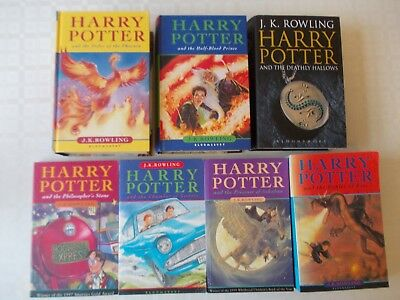Full complete Harry Potter hardback & Paperback book set