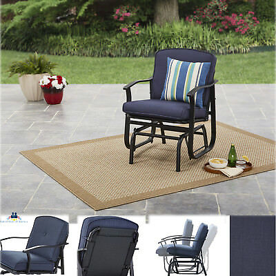 Patio Swing Glider Bench Rocking Chair Outdoor Furniture Deck Porch Garden Blue
