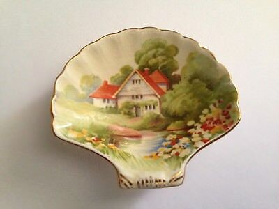 Vintage Royal Winton Red Roof Cottage GRIMWADES Trinket Dish