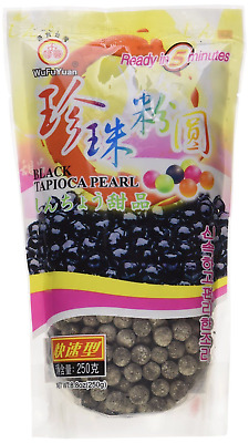 WuFuYuan Tapioca Pearl 250g (Black) for Bubble tea drink _ AU Seller