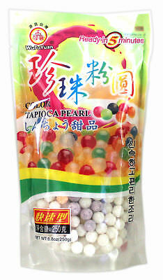 WuFuYuan Tapioca Pearl 250g (multi Colour) for boba Bubble tea drink _ AU Seller