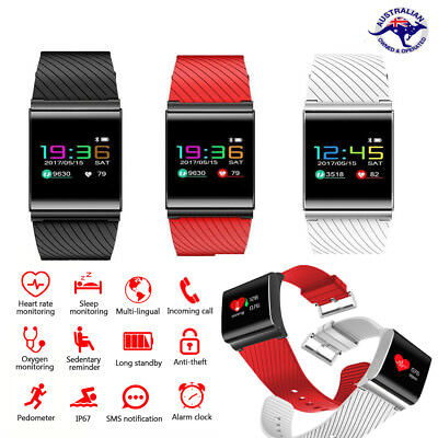 Water Resistant Activity Tracker Smart Fitness Watch Bit Heart Rate Monitor Fit