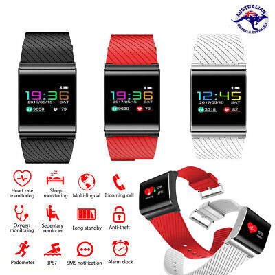 Waterproof Activity Tracker Smart Fitness Watch Heart Rate Monitor Fit Sleep Bit