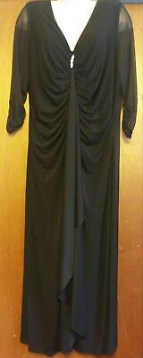 Catherines Plus Size Black evening gown dress formal prom mother wedding, 26W