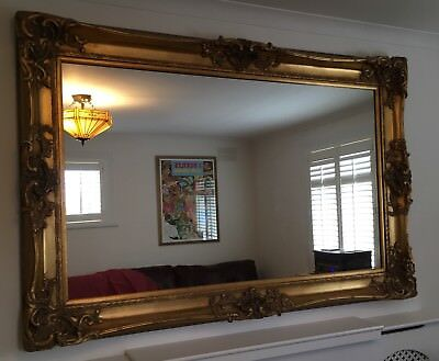 Huge large reproduction antique mirror moulded gold gilt for Baroque mirror canada