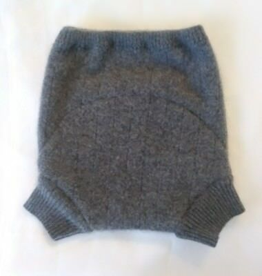 New! Cloth Diaper Cover Recycled Cashmere wool Shorties 12 month Wrap Soaker