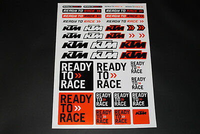 KTM Aufkleber Sticker Decal Bapperl Bomb Ready to Race DUKE Cross >Bogen < EXE