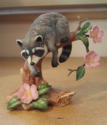 Lenox Twilight Mischief Raccoon Figurine Vintage 1990 Highly Detailed