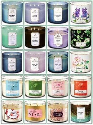 Bath and Body Works 3 Wick Candles (Special Offer £19.98 each or TWO for £35.99)