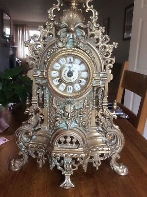 Fireplace French movement Brass Great Grandfather Clock