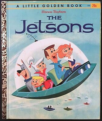 "1962 ""the Jetsons"" Little Golden Book ""a"" 1St Printing  Hanna-Barbera Tv Cartoon"