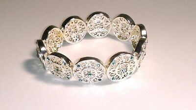 AVON Ultimate Challenger Collection Silver-tone Filigree Stretch Bracelet NEW!