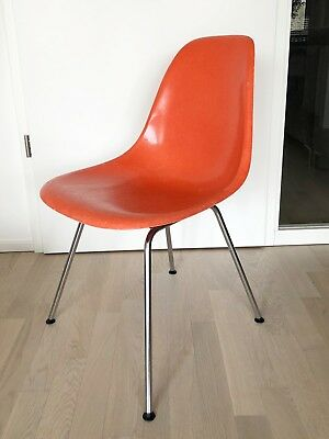 eames side chair fiberglas stuhl sitzschale orange 60er 70er h base eur 218 00 picclick de. Black Bedroom Furniture Sets. Home Design Ideas
