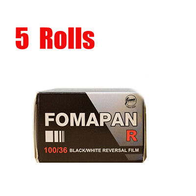5 Rolls Foma  Fomapan R100 35mm135-36 Black&White Reversal Slide Film Fresh 2022