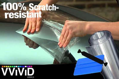 "VViViD Clear Bra Paint Protection Bulk Vinyl Wrap Film 12"" x 120"" Including 3M S"
