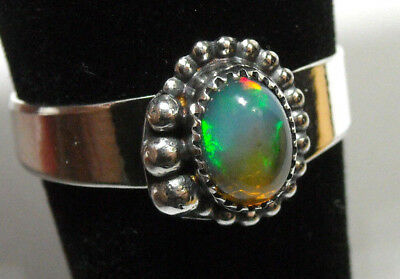 925 Sterling Silver Ring Womens Size 7.5 Choice Natural Fire Opal Handmade NEW