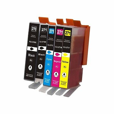5Pk PGI270XL CLI271XL Ink Cartridge For Canon PIXMA MG5720 MG5721 MG5722 MG6820