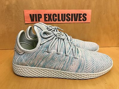 b64b839e83724 Adidas Pharrell Williams Tennis HU LIGHT BLUE PW Human Race BY2671 SZ 8-13