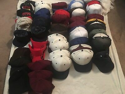 Lot of 53 Baseball Hats, 3 Knit Hats NEW