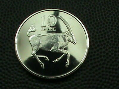 BOTSWANA   10 Thebe   1976   PROOF   $ 2.99  maximum  shipping  in  USA