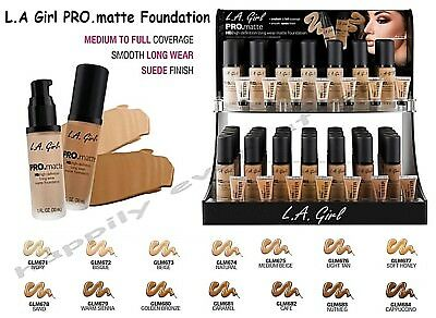 LA GIRL Pro Matte Foundation - Covered & Shine Free All Day Long! Authentic