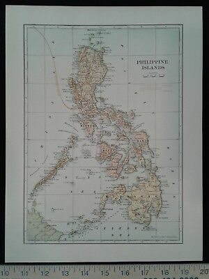 Early 1900's Map - Philippines - Hawaii