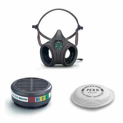 Moldex 8000 Series Reusable Half Face Masks,Gas Particulate Filter Cartridges