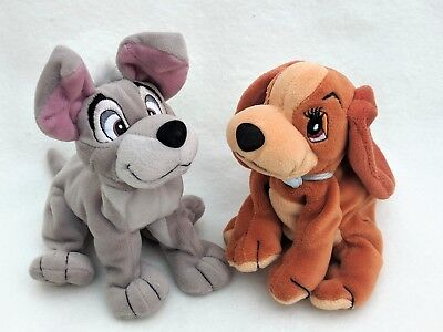 Lady and The Tramp Cuddly Toy Dog Disney Film Small Soft Toy pair