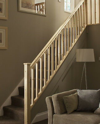 Plain Square Stair & Landing Balustrade Kit - Select Timber and Kit Type