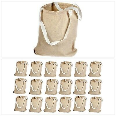 Canvas Tote Bag (18 Pack) Natural Color Large Crafts School Book Grocery Carrier