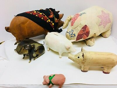 Vintage 43-Piece Pig Collection (Accumulated from 1965-2005)