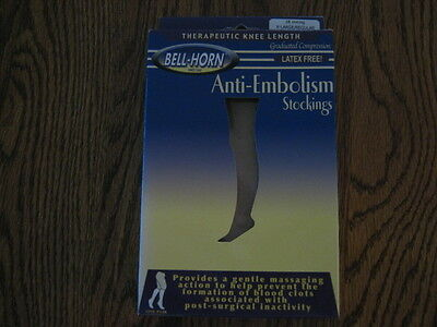 Bell Horn Anti Embolism Stockings 18 Compression KNEE X Large Beige Closed 11000