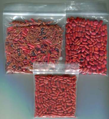 200 grams assorted coral beads branch rice and other shapes