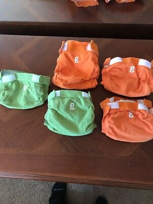 GDiapers Gpants Reusable Diaper Covers. Lot of 5 Size Small See Pics
