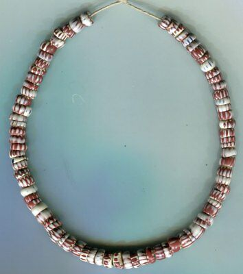 African Trade beads Vintage Venetian glass strand uncommon 3 layer chevrons