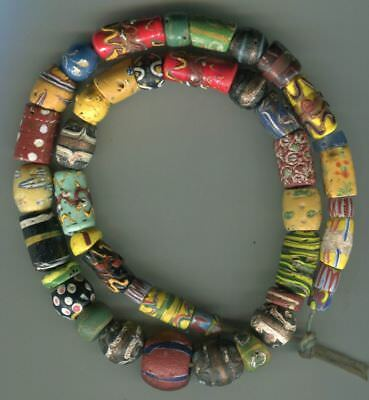 African Trade beads Vintage Venetian glass beads nice mixed old beads very nice
